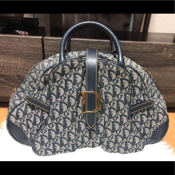 Dior Handbags - CHRISTIAN DIOR DOUBLE SADDLE TROTTING MONOGRAM BAG